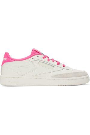 Reebok Classics White & Pink Club C 85 Sneakers