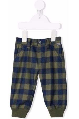 Il gufo Gingham-check trousers