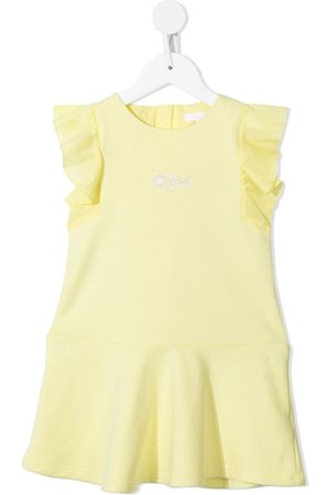 Chloé Logo-print ruffled dress