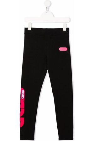 GCDS Contrast logo-print leggings