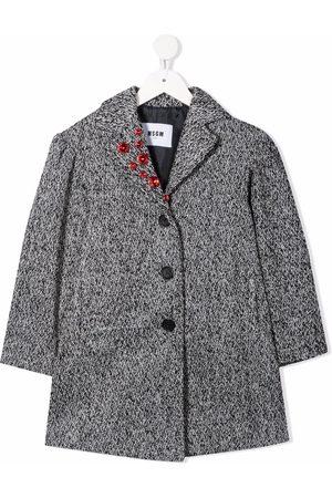 Msgm Rhinestone-embellished single-breasted coat