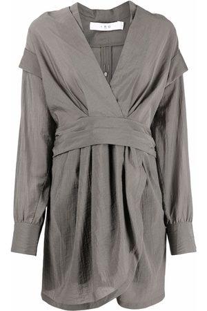 IRO Wrapped long-sleeve shirt dress
