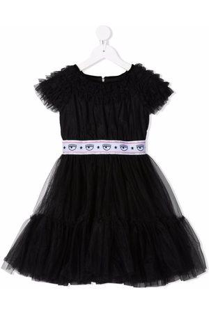 Chiara Ferragni Logo-print tulle dress