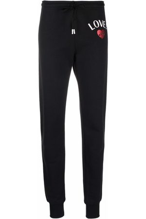 Love Moschino Logo-print cotton track pants