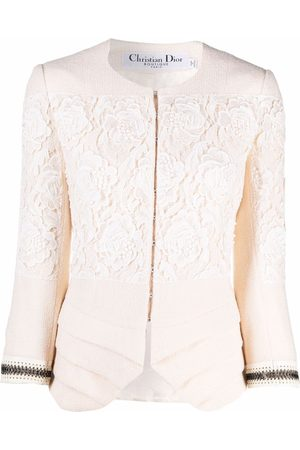 Christian Dior 2007 pre-owned lace single-breasted jacket