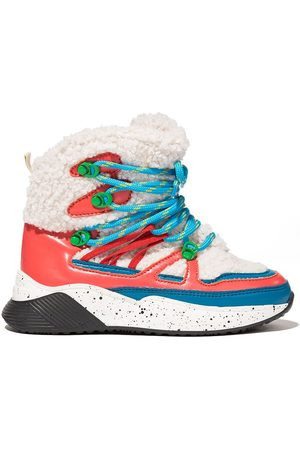 Stella McCartney Faux-shearling hiking boots