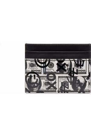 Philipp Plein Dollar leather cardholder