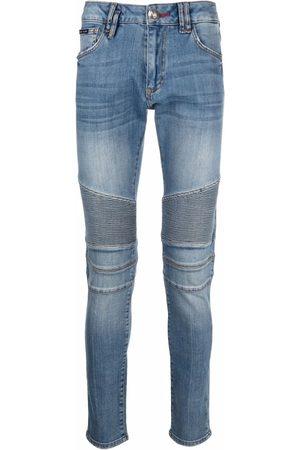 Philipp Plein Slim-fit biker-style jeans