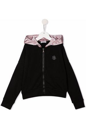 Moncler Contrast hood zip-up jacket