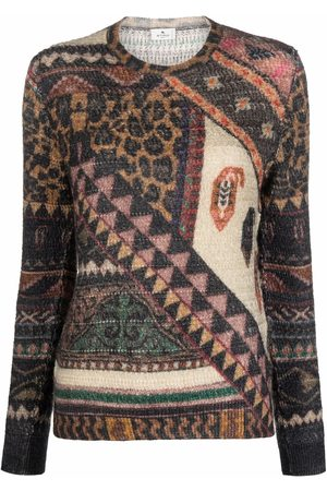 ETRO Patterned knitted jumper