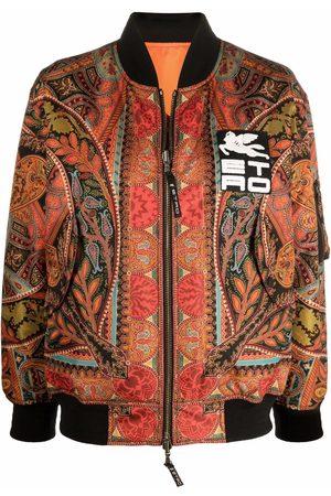 Etro Patterned zip-up bomber jacket