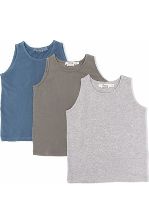 Bonpoint 3-pack embroidered-logo cotton tank top
