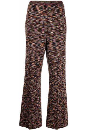 M Missoni Marl-knit flared trousers