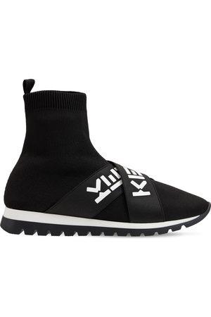 Kenzo Logo Print Cotton Sock Sneakers