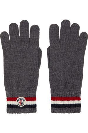 Moncler Heren Handschoenen - Grey Wool Stripe Gloves