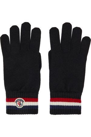 Moncler Heren Handschoenen - Black Wool Stripe Gloves
