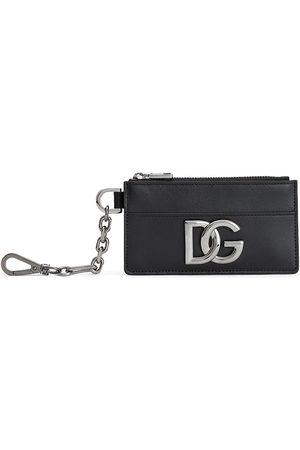 Dolce & Gabbana Logo plaque clip-on cardholder