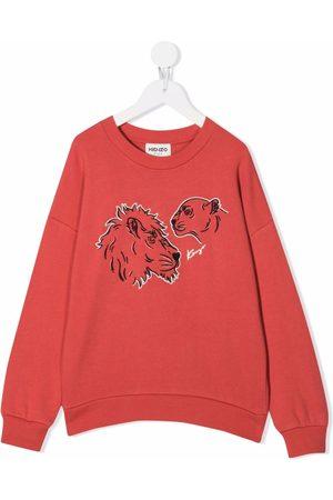 Kenzo Kids Meisjes Sweaters - Lion-print sweatshirt