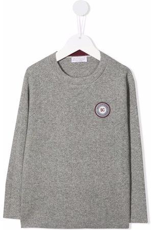 Brunello Cucinelli Kids Chest logo-patch jumper