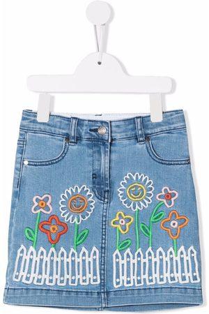 Stella McCartney Kids Meisjes Jeansrokken - Embroidered denim skirt