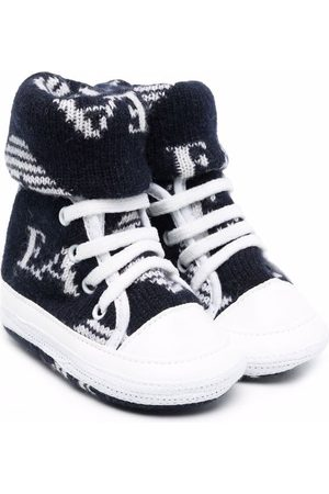Emporio Armani Kids Side logo-print sneakers