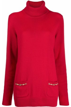Gucci Dames Gebreide truien - Double G chain wool jumper