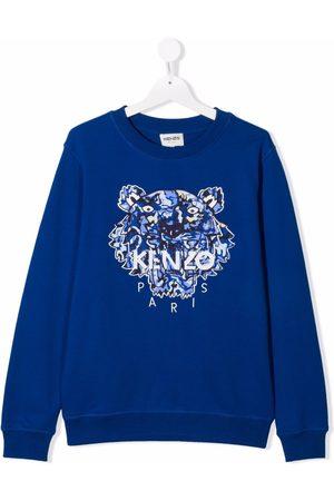 Kenzo Kids Tiger-embroidered sweatshirt