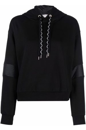 Moncler Dames Hoodies - Contrast-stripe relaxed-fit hoodie