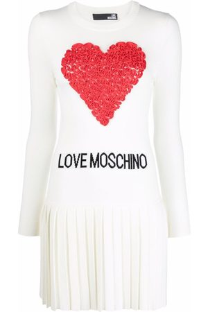 Love Moschino Logo-embroidered knitted dress