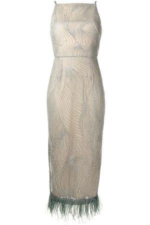 Rachel Gilbert Beaded empire-line dress