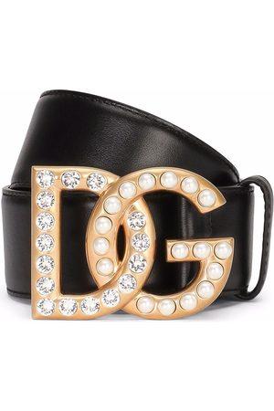 Dolce & Gabbana DG logo buckle leather belt