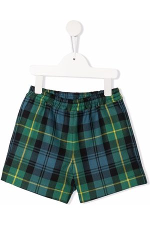 Philosophy Di Lorenzo Serafini Kids TEEN tartan-check elasticated shorts