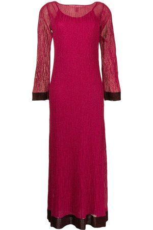 M Missoni Contrasting-cuffs long dress