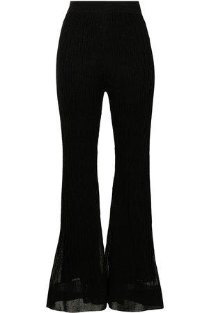 M Missoni Chunky-knit straight-leg trousers