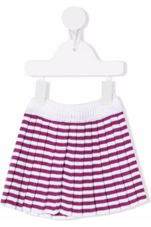 Little Bear Striped-knit wool shorts