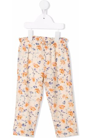 Bonpoint Floral-print elasticated trousers