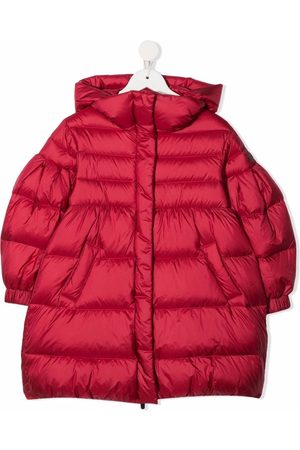Il Gufo Puff-sleeves hooded padded coat
