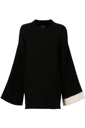 Y'S Bell-sleeve knitted jumper