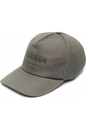 Alexander McQueen Heren Petten - Logo-printed cap