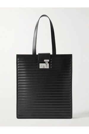Dunhill Heren Shoppers - Lock Quilted Leather Tote Bag