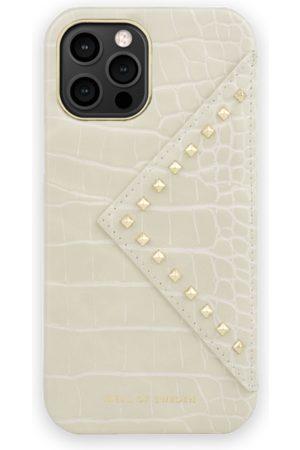 Ideal of sweden Telefoon hoesjes - Statement Case iPhone 12 Pro Max Beatstuds Cream Croco