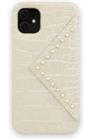 Ideal of sweden Telefoon hoesjes - Statement Case iPhone 11 Beatstuds Cream Croco