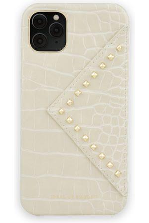 Ideal of sweden Telefoon hoesjes - Statement Case iPhone 11 Pro Max Beatstuds Cream Croco