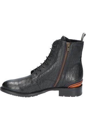 Floris van Bommel Dames Veterlaarzen - 85644 11 Black G+ Wijdte Veter boots