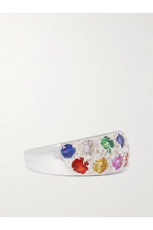 Bleue Burnham Heren Ringen - Riviera Recycled Sterling Sapphire Ring