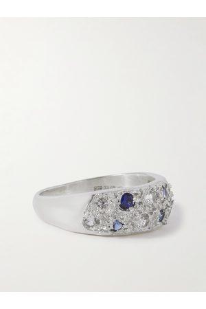 Bleue Burnham The Mini Riviera Sterling and Sapphire Ring