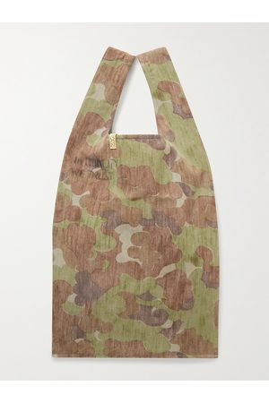 VISVIM Heren Shoppers - Camouflage-Print Wool and Linen-Blend Tote Bag