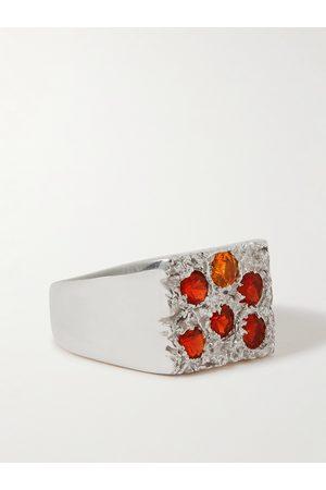 Bleue Burnham Heren Ringen - Rose Garden Recycled Sterling Sapphire Signet Ring