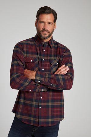 JP1880 Grote Maten Geruit Flanellen Overhemd, Heren