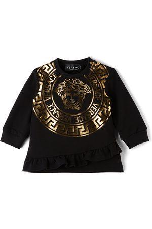VERSACE Baby Black Medusa Print Sweater Dress